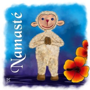 Namaste Baumhaltung Illustration Digital Painting