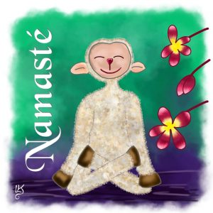 Namaste Lotussitz Illustration Digital Painting
